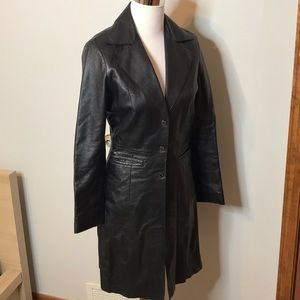 Bebe vintage leather trench coat